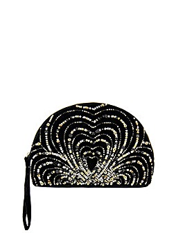 Monsoon Harriet Heart Embellished Clutch