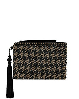 Monsoon Hetty Houndstooth Clutch