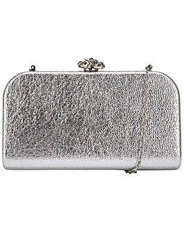 Claudia Canova Oblong Rounded Hardcase Clasp Top Clutch