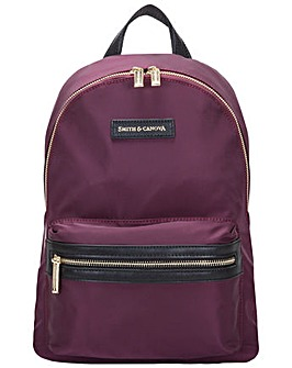 Smith & Canova Nylon Zip Around Backpack
