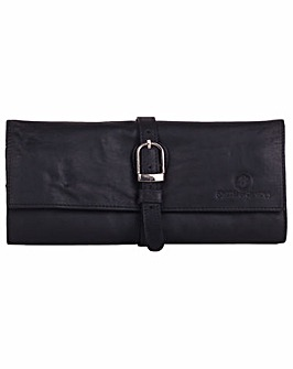 Smith & Canova Smooth Leather Jewellery Roll