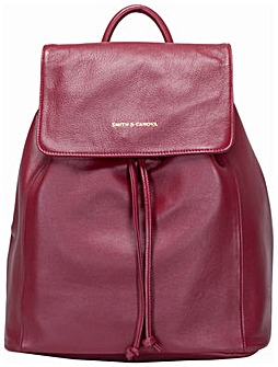 Smith & Canova Soft Leather Drawstring Backpack