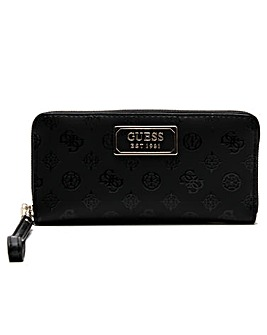 Guess Kamryn Stamp Zip Around Wallet