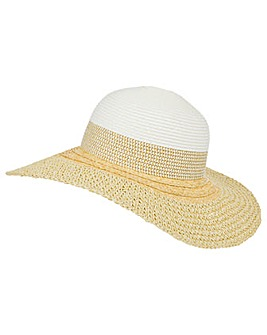 Monsoon Carey Colour Block Floppy Hat