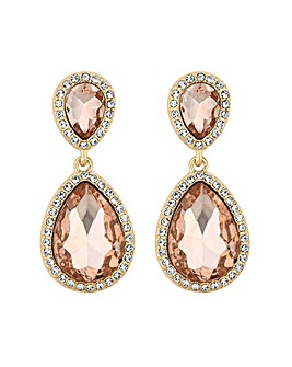 Mood Rose Gold Double Drop Earrings