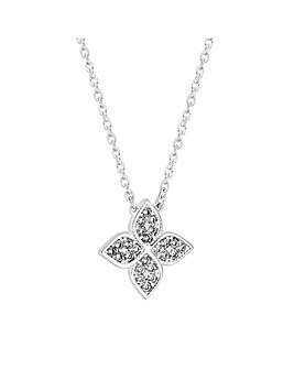 Simply Silver Clover Necklace