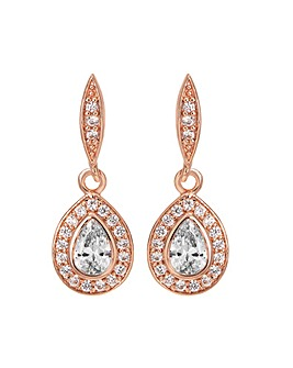 Jon Richard Rose Gold Drop Earring