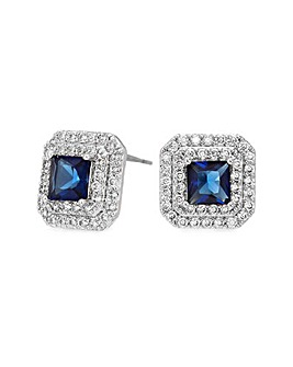 Jon Richard Blue Square Stud Earring