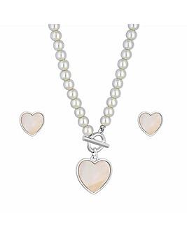 Mood Pearl Heart T Bar Set