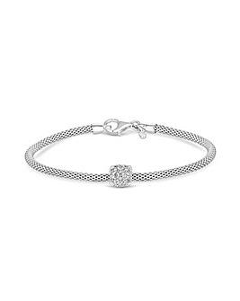 Simply Silver Popcorn Square Bracelet