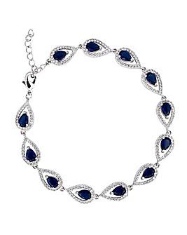 Jon Richard Blue Pear Bracelet