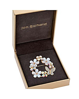Jon Richard Flower & Butterfly Brooch