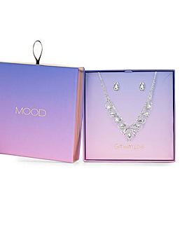 Mood Silver Crystal Statement Set