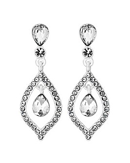 Silver Marquise Teardrops Earrings