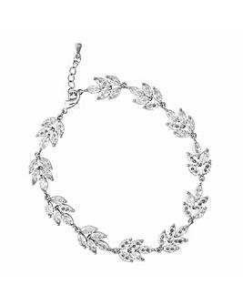 Jon Richard Silver Leaf Bracelet