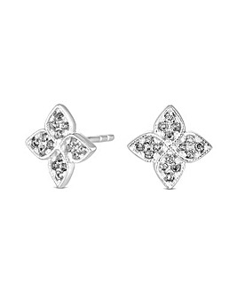 Simply Silver Clover Stud Earring