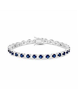 Simply Silver Sapphire Tennis Bracelet