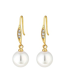 Jon Richard Gold Pearl Drop Earrings
