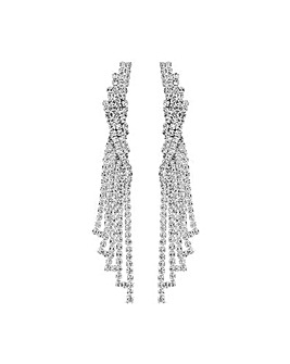 Silver Plated Crystal Chandelier Drop Earring