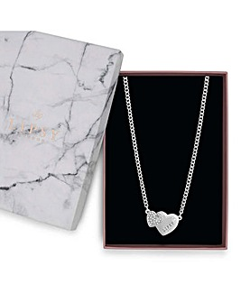 Lipsy Silver Heart Necklace Gift Set