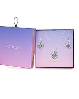 Mood Silver Heart Set - Gift Boxed