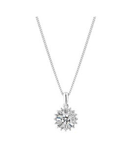 Simply Silver Snowflake Pendant Necklace
