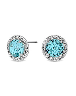 Jon Richard Silver Blue Stud Earrings