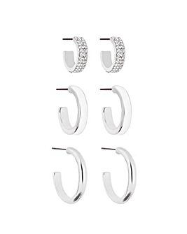 Lipsy Pave & Enamel Earring 3 Pack