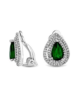 Jon Richard Silver Green Clip On Earring