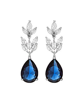 Jon Richard Silver Blue Drop Earring