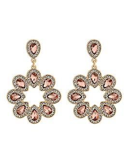 Rose Gold Plated Teardrop Link Drop Earrings