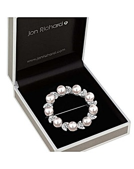 Jon Richard Crystal Wreath Floral Brooch