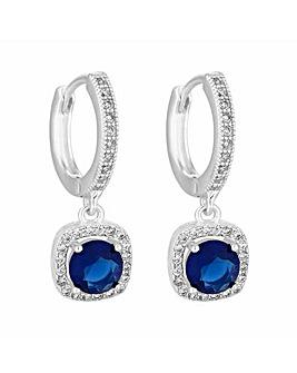Jon Richard Blue Mini Hoop Earrings