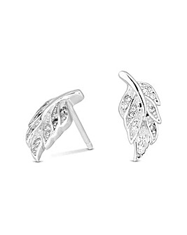 Simply Silver Feather Stud Earring