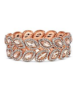 Mood Rose Gold Leaf Stretch Bracelet