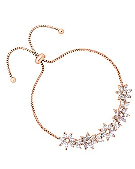 Jon Richard Rose Gold Floral Toggle