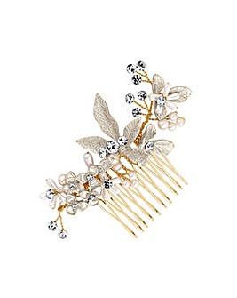 Layla Soft Gold Leaf Comb