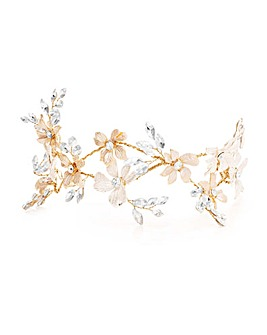 Jon Richard Two Tone Floral Hair Slide
