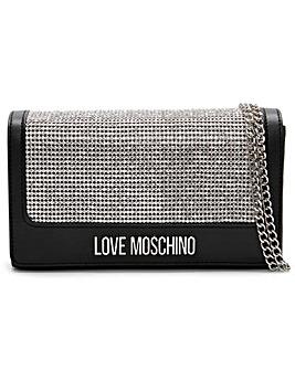 Love Moschino Diamante Clutch Bag