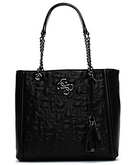 Guess New Wave Quilted Tote Bag