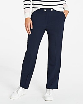 Workwear Straight Leg Trousers Long