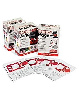 Henry Genuine Dust Bags - Pack of 30