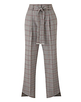 Tapered Checked Trousers Petite