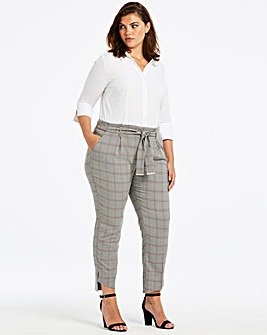Tapered Checked Trousers