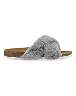 Footbed Slippers Extra Wide Fit