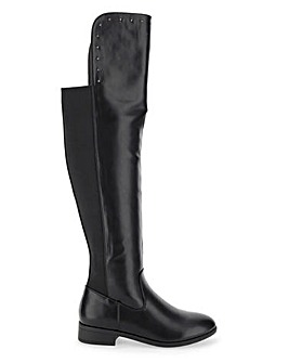 Felicia Over The Knee Stretch Boots Extra Wide EEE Fit Super Curvy Calf