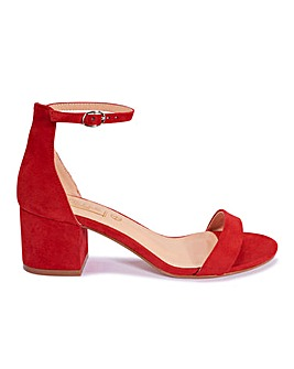 Block Heel Sandals Standard Fit