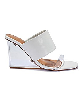 Perspex Wedge Mules Standard Fit