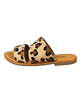 bb707759b9e6 Leopard Leather Sliders Standard Fit