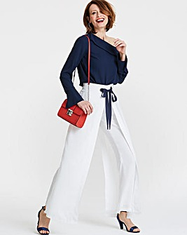 Eyelet Wrap Front Trousers